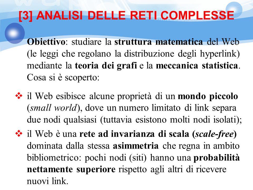 [3] ANALISI DELLE RETI COMPLESSE